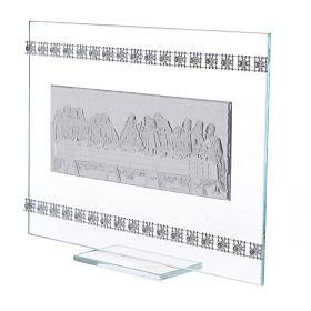 Cuadrito rectangular Última Cena con cuentas strass s2