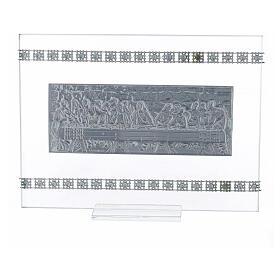 Cuadrito rectangular Última Cena con cuentas strass s3