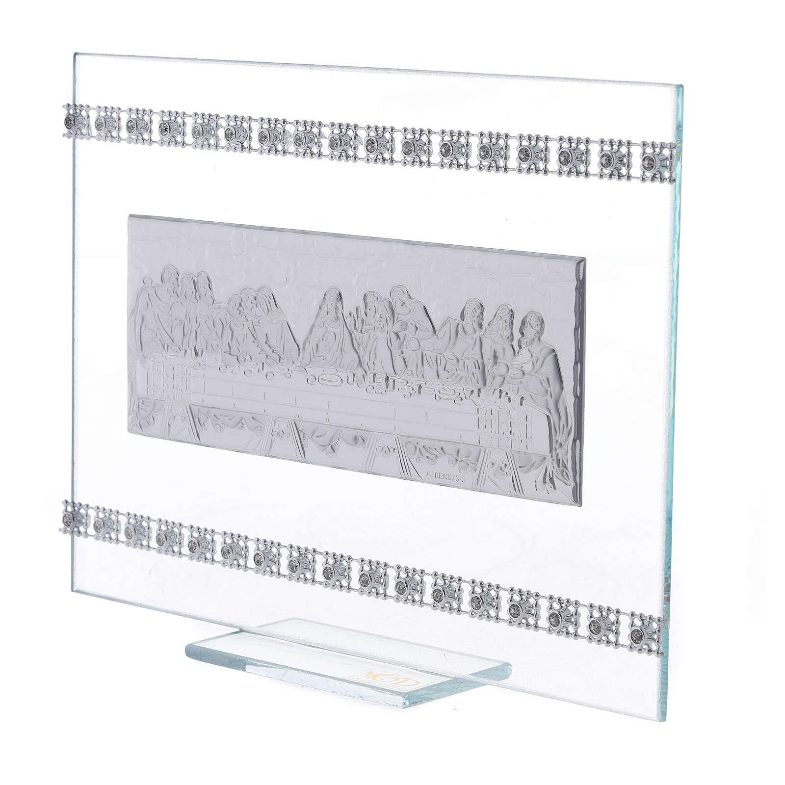 Cadre rectangulaire Cène avec strass 3