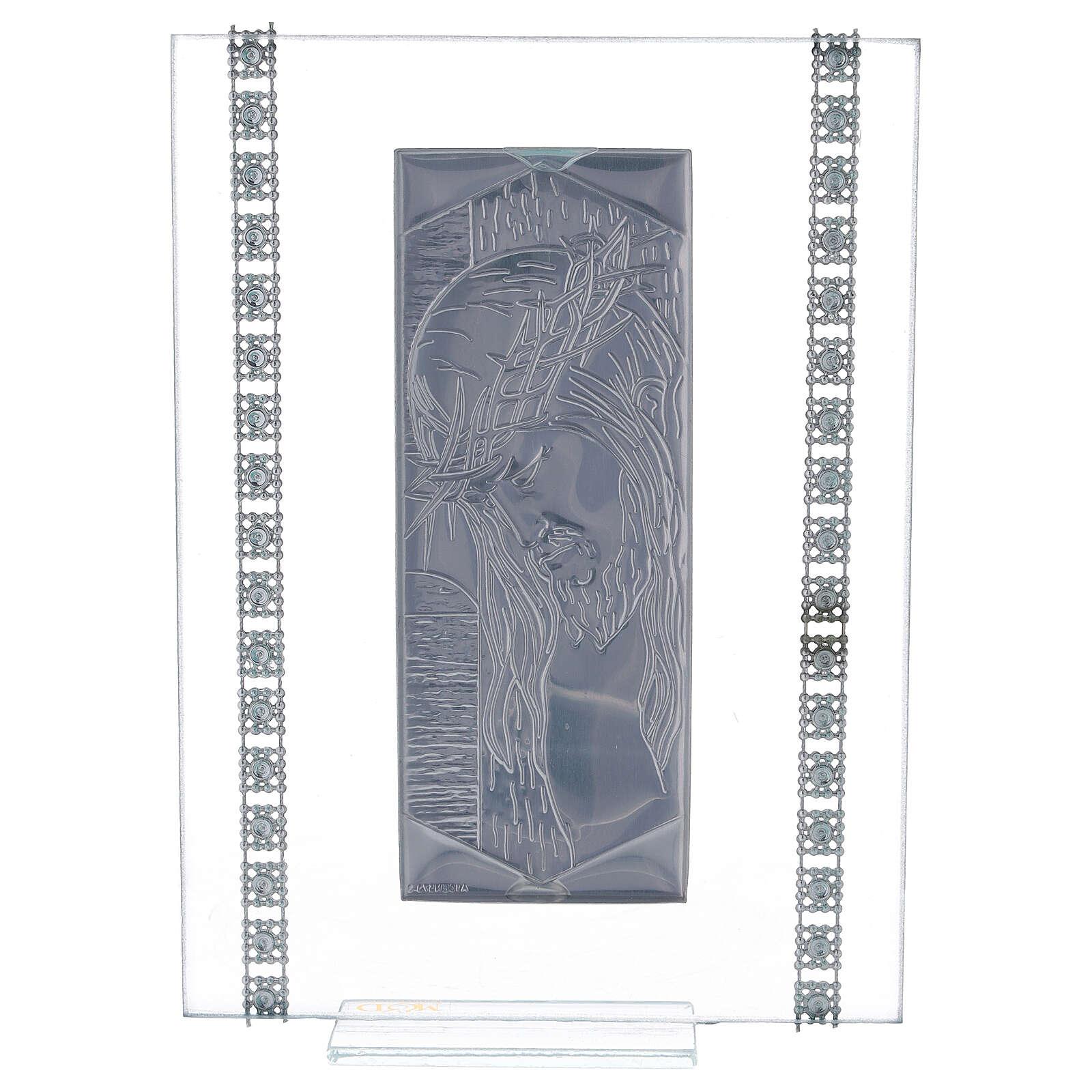 Cuadrito vidrio rectangular Cristo 3