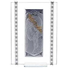 Cuadrito vidrio rectangular Cristo s1