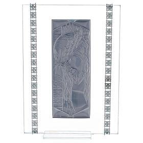Cuadrito vidrio rectangular Cristo s3