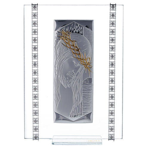 Cuadrito vidrio rectangular Cristo 1