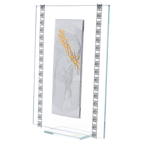 Cuadrito vidrio rectangular Cristo 2