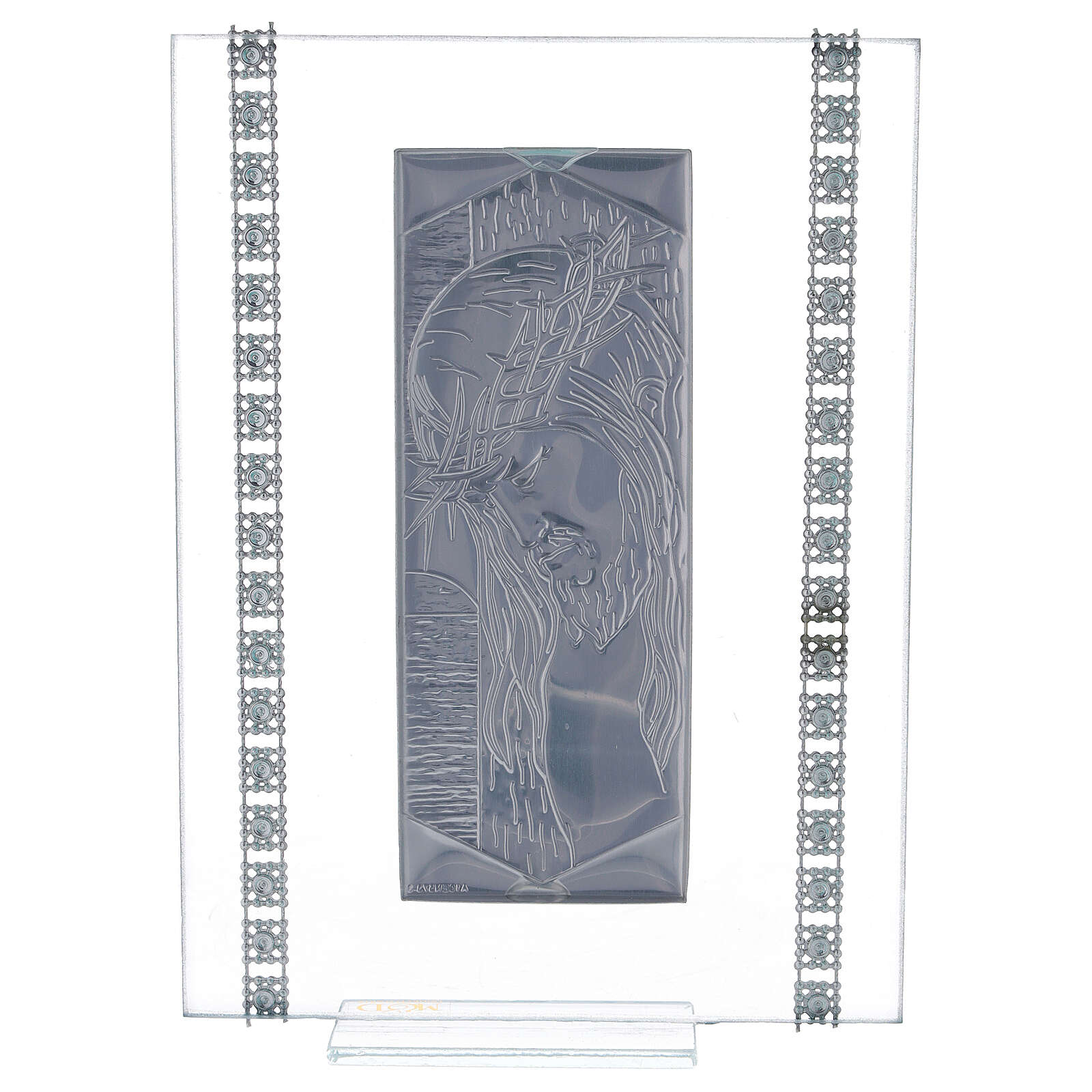 Quadretto vetro rettangolare Cristo  3