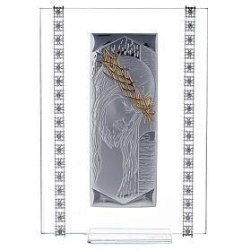 Quadretto vetro rettangolare Cristo  s1