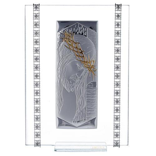 Quadretto vetro rettangolare Cristo  1