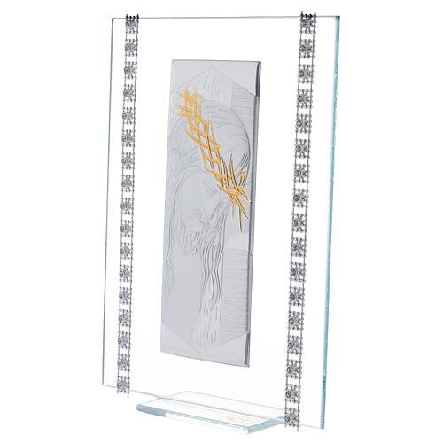 Quadretto vetro rettangolare Cristo  2