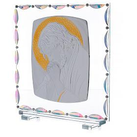 Cadre verre Christ auréole dorée s2