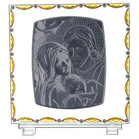 Cuadro Sagrada Familia vidrio y cristal s3