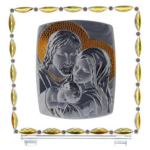 Cuadro Sagrada Familia vidrio y cristal 1