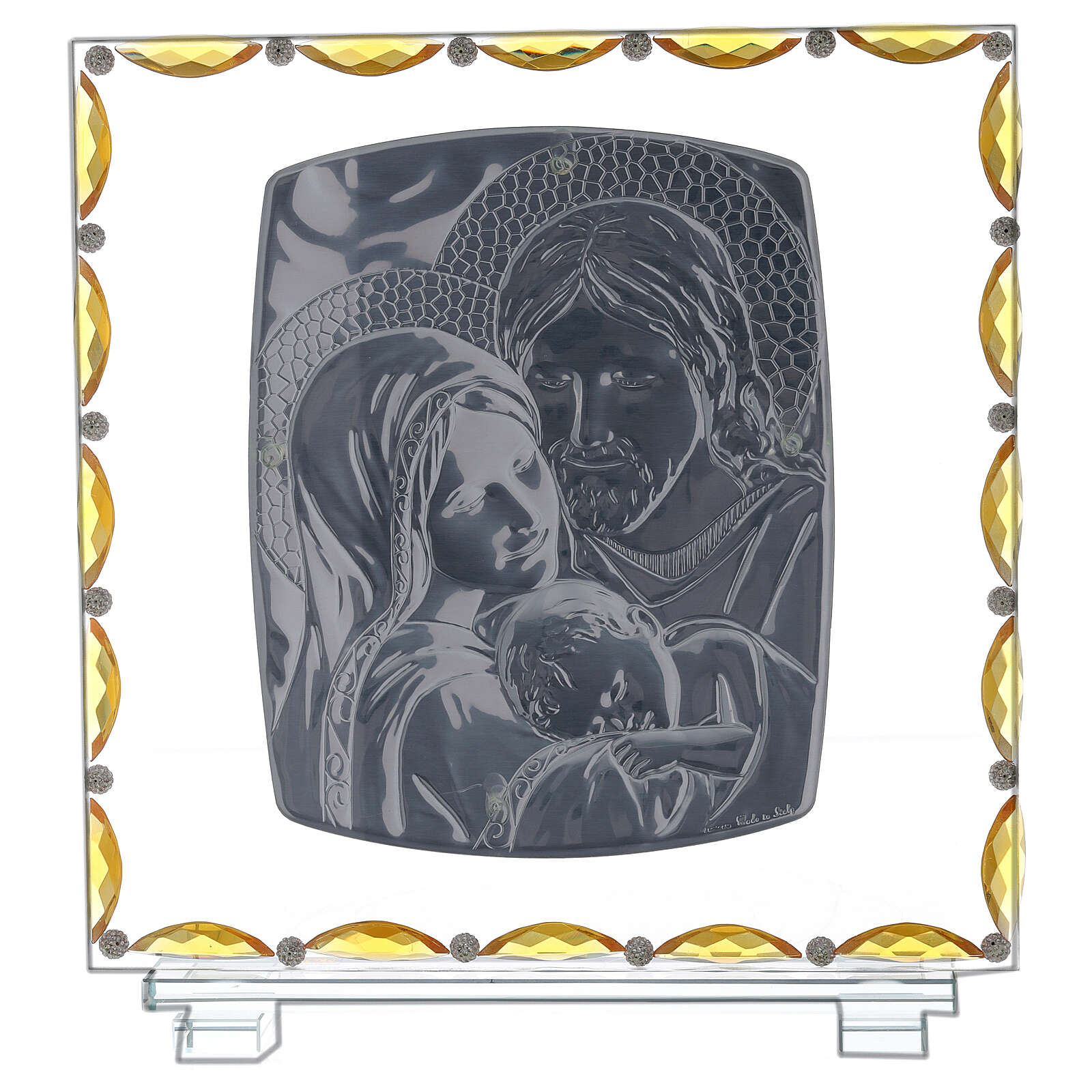 Picture Holy Family glass et crystal 3