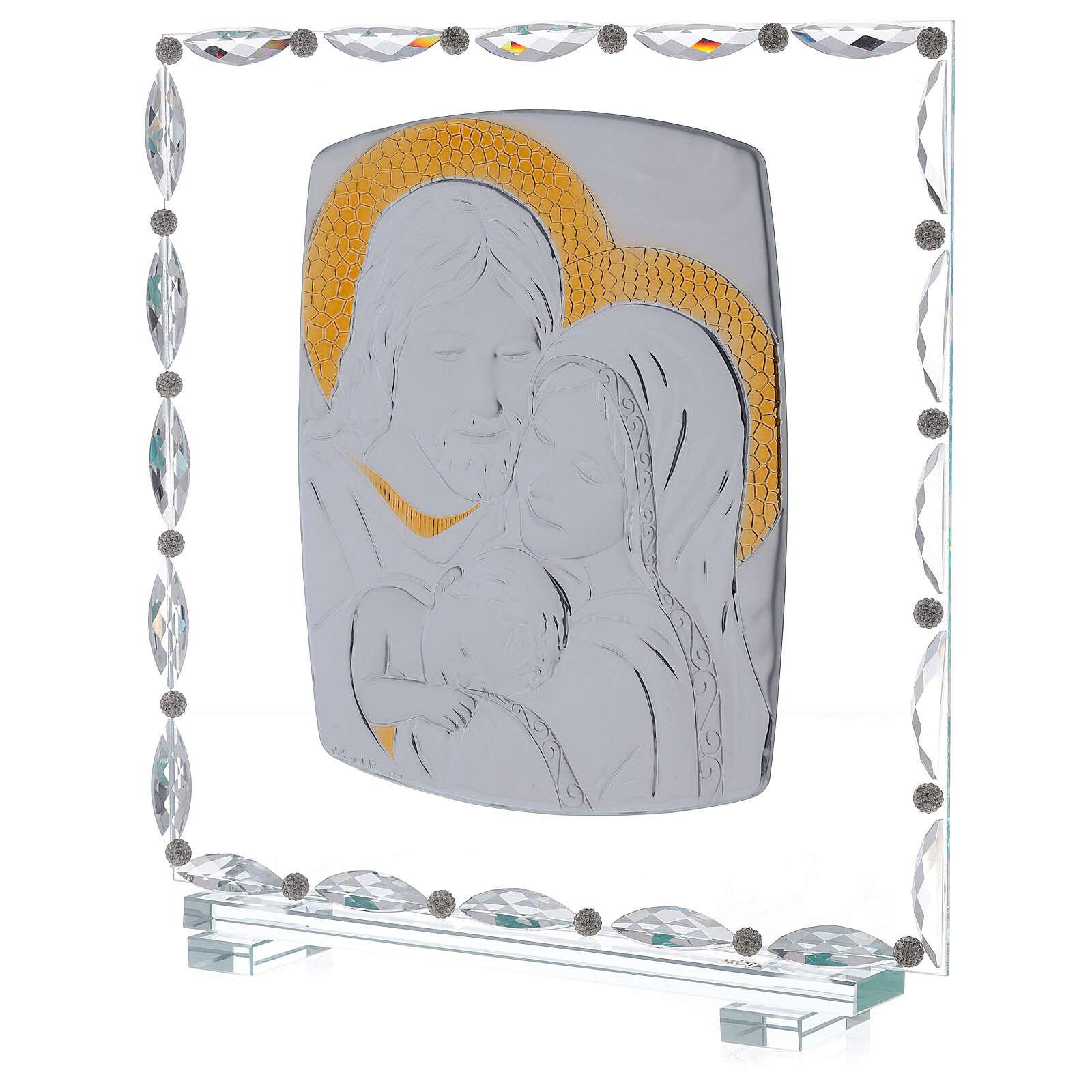 Cuadro vidrio Sagrada Familia motivos cristal 3
