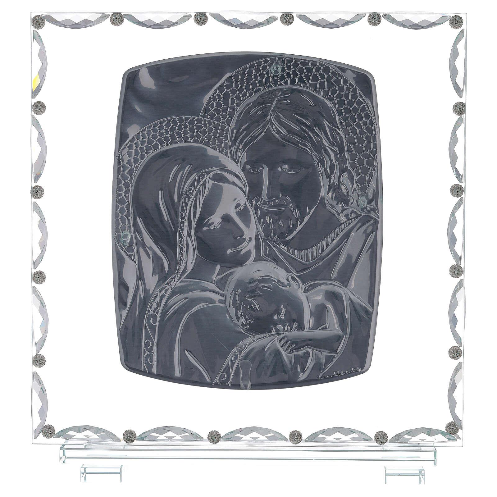 Quadro vetro Sacra Famiglia decori cristallo 3