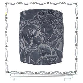 Quadro vetro Sacra Famiglia decori cristallo s3