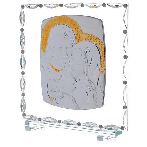 Quadro vetro Sacra Famiglia decori cristallo 2