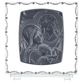 Glass picture Holy Family crystal decorations s3
