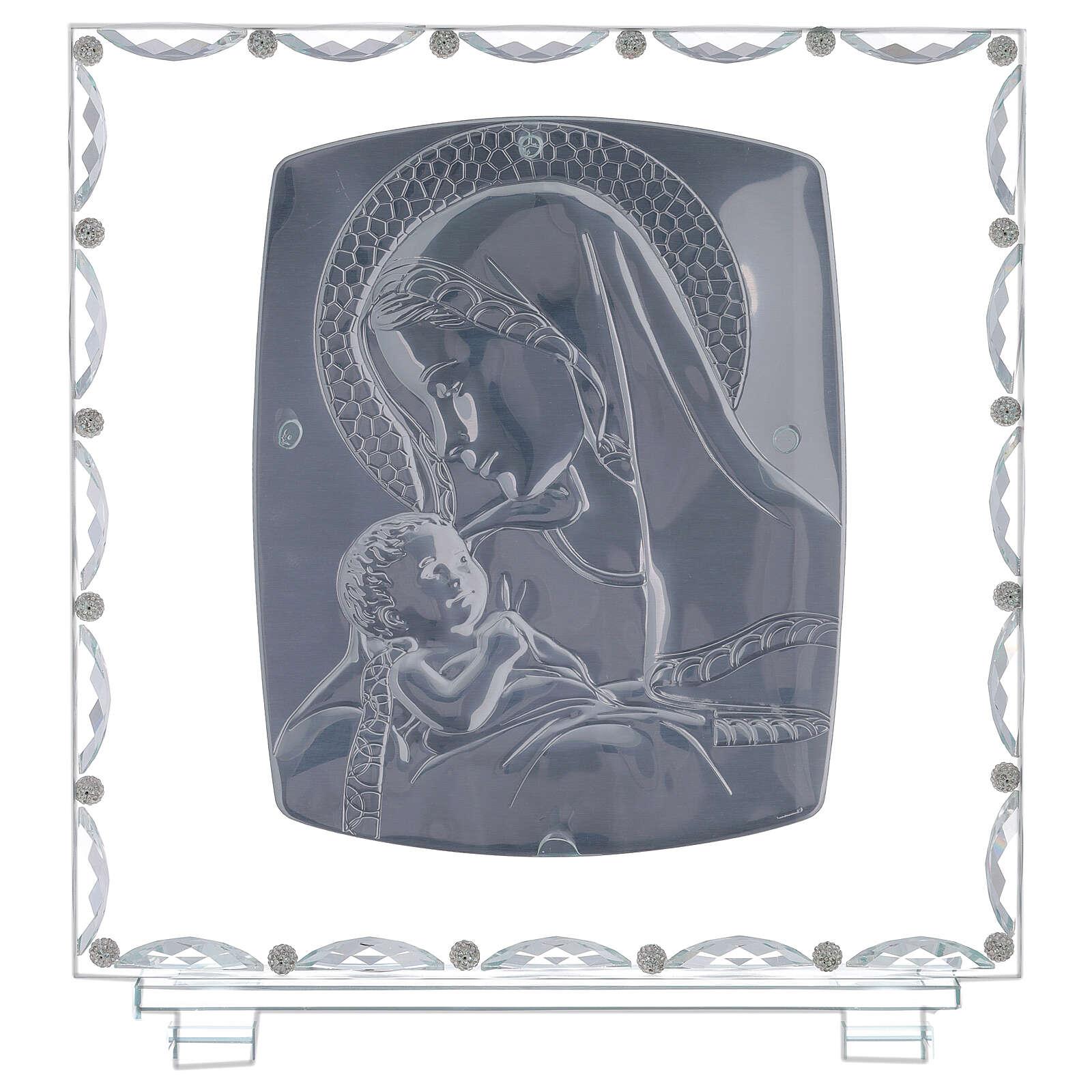 Cadre maternité verre et cristal 3