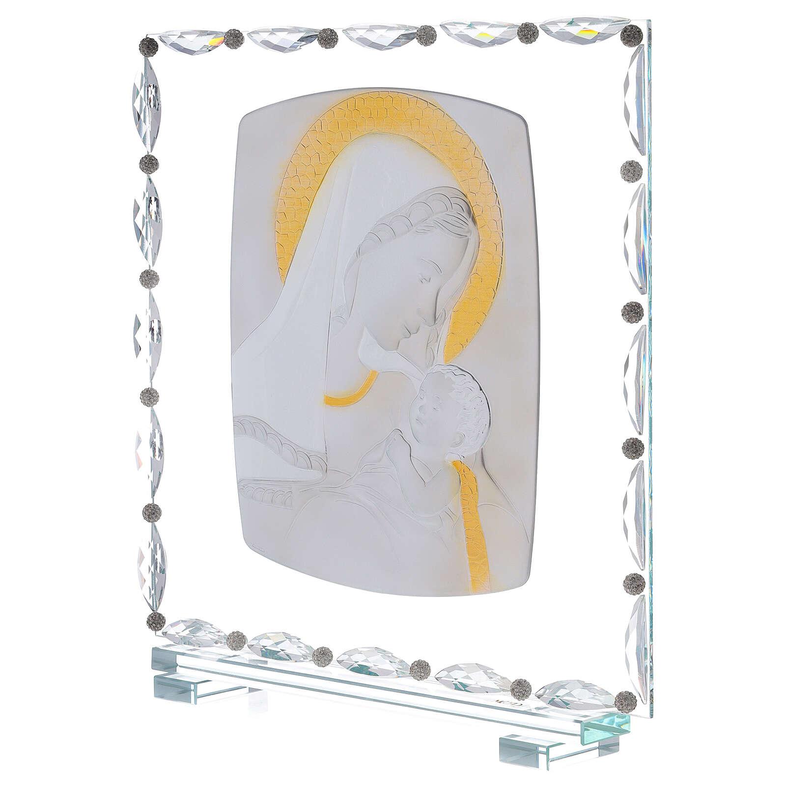 Quadro maternità vetro e cristallo 3
