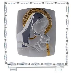 Quadro maternità vetro e cristallo s1