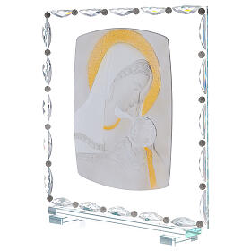 Quadro maternità vetro e cristallo s2