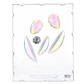 Cuadrito vidrio Sagrada Familia estilizada s1