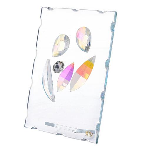 Cuadrito vidrio Sagrada Familia estilizada 2
