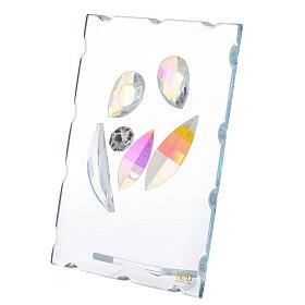 Quadretto vetro Sacra Famiglia stilizzata  s2