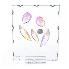 Quadretto vetro Sacra Famiglia stilizzata  s3