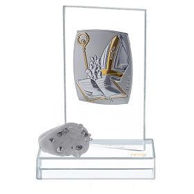 Bomboniera simboli Cresima in vetro s1