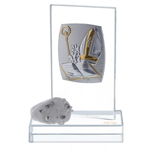 Bomboniera simboli Cresima in vetro 1