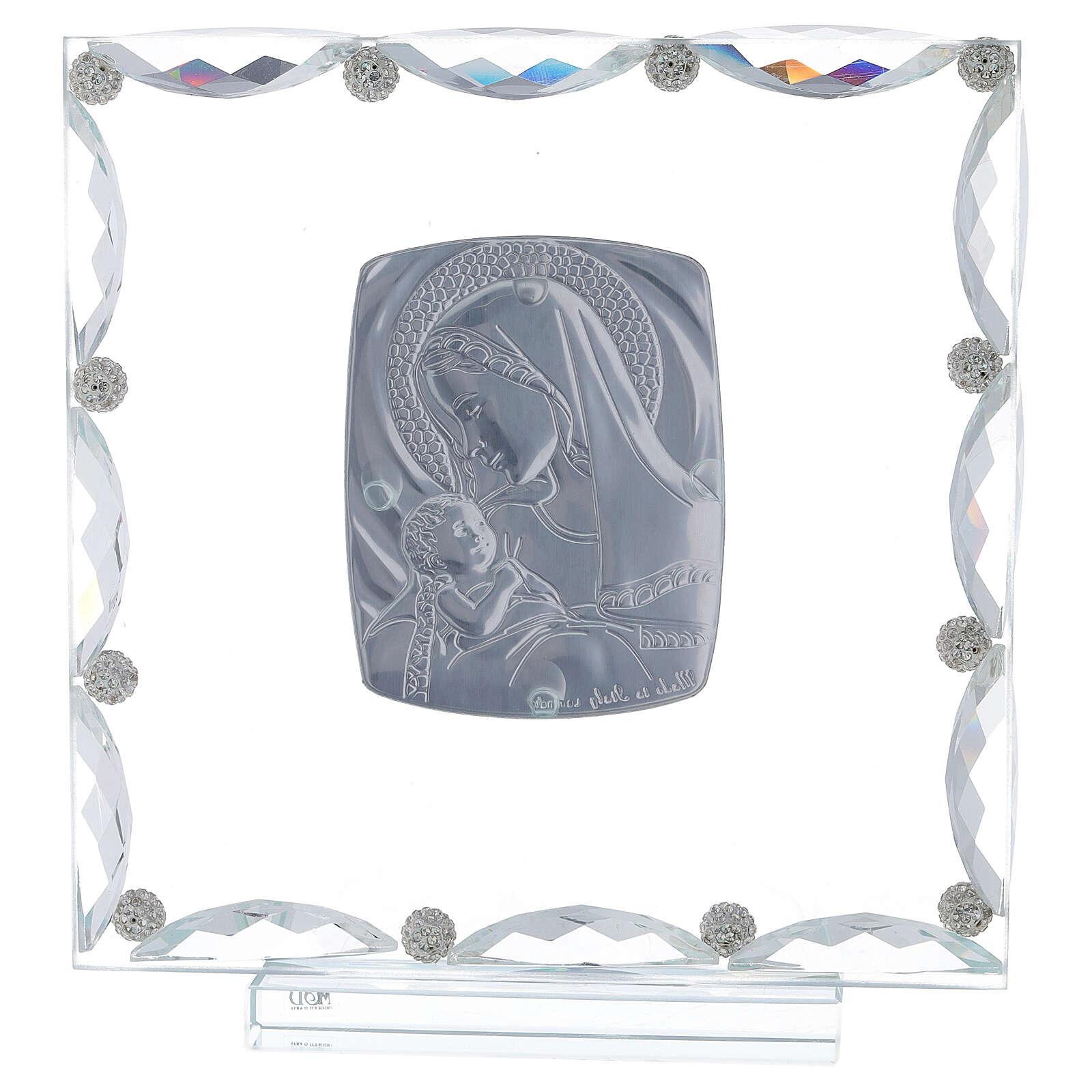 Quadretto vetro e cristallo maternità 3