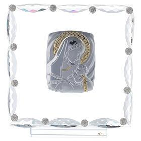 Quadretto vetro e cristallo maternità s1