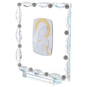 Quadretto vetro e cristallo maternità s2