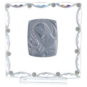 Quadretto vetro e cristallo maternità s3
