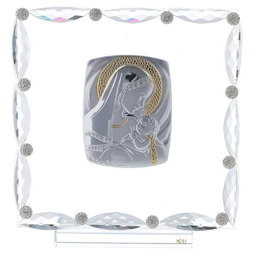 Quadretto vetro e cristallo maternità 1