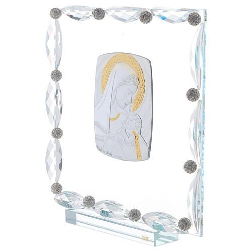 Quadretto vetro e cristallo maternità 2