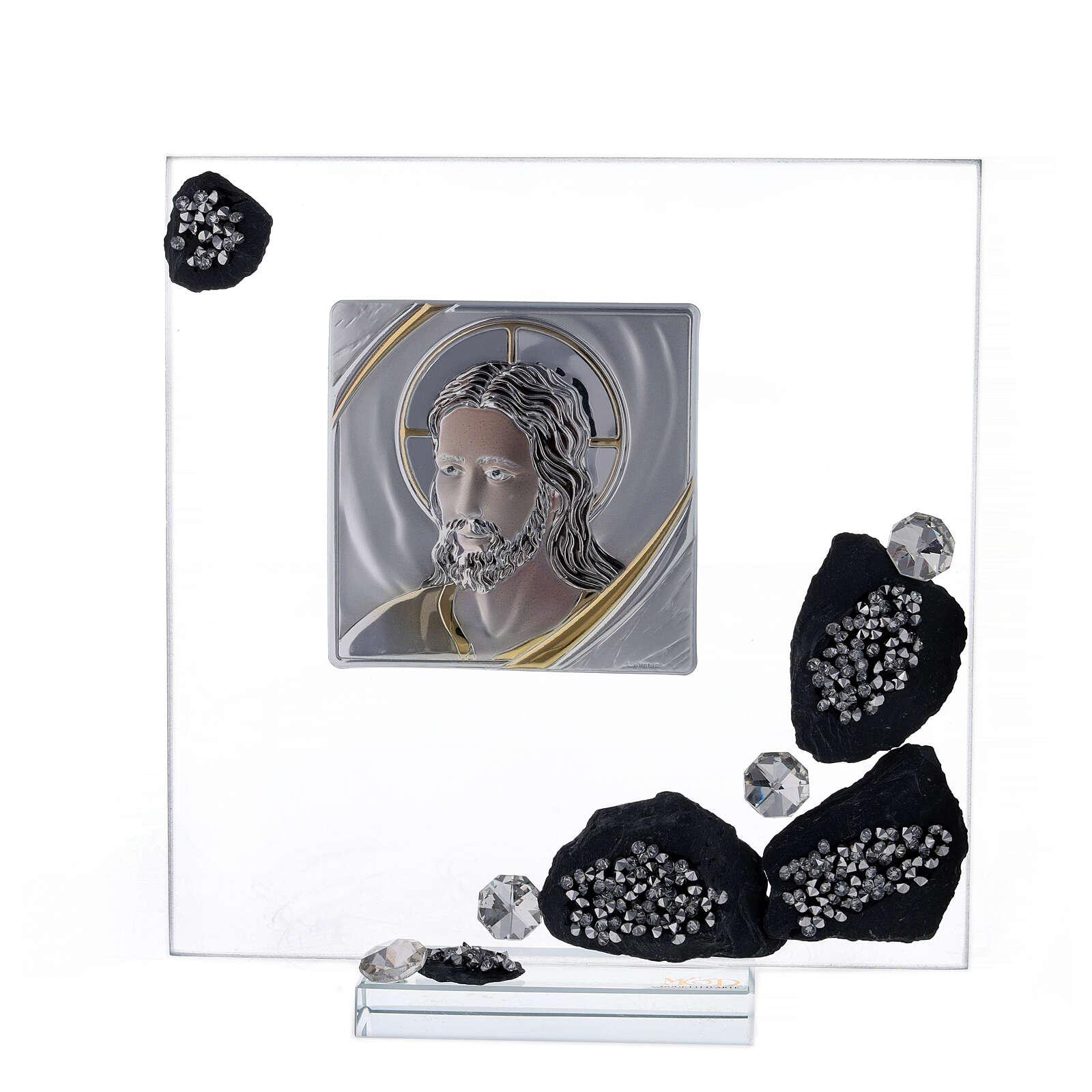 Cadre avec ardoise plaque avec Christ 3