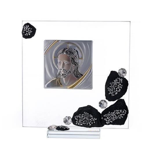 Cadre avec ardoise plaque avec Christ 1
