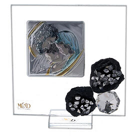 Favor glass picture and slate Holy Family s1