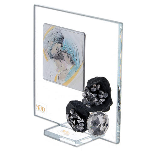 Favor glass picture and slate Holy Family 2