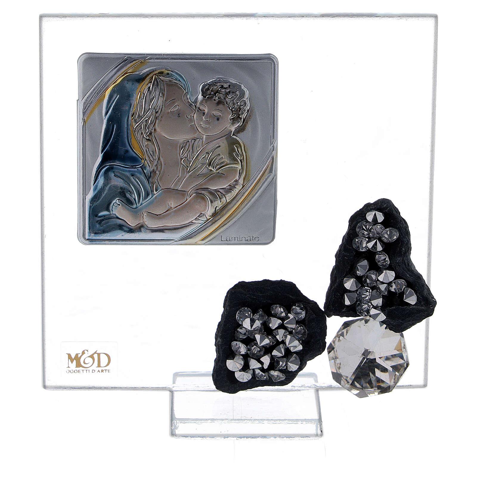 Cuadrito recuerdo nacimiento vidrio 3