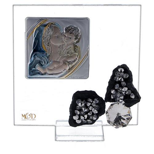 Cuadrito recuerdo nacimiento vidrio 1