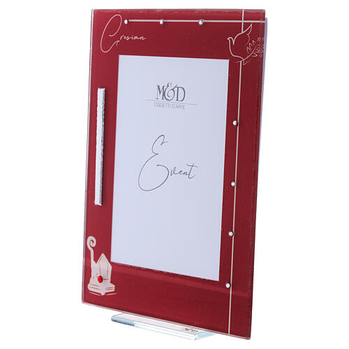 Picture frame Confirmation glass red frame 2