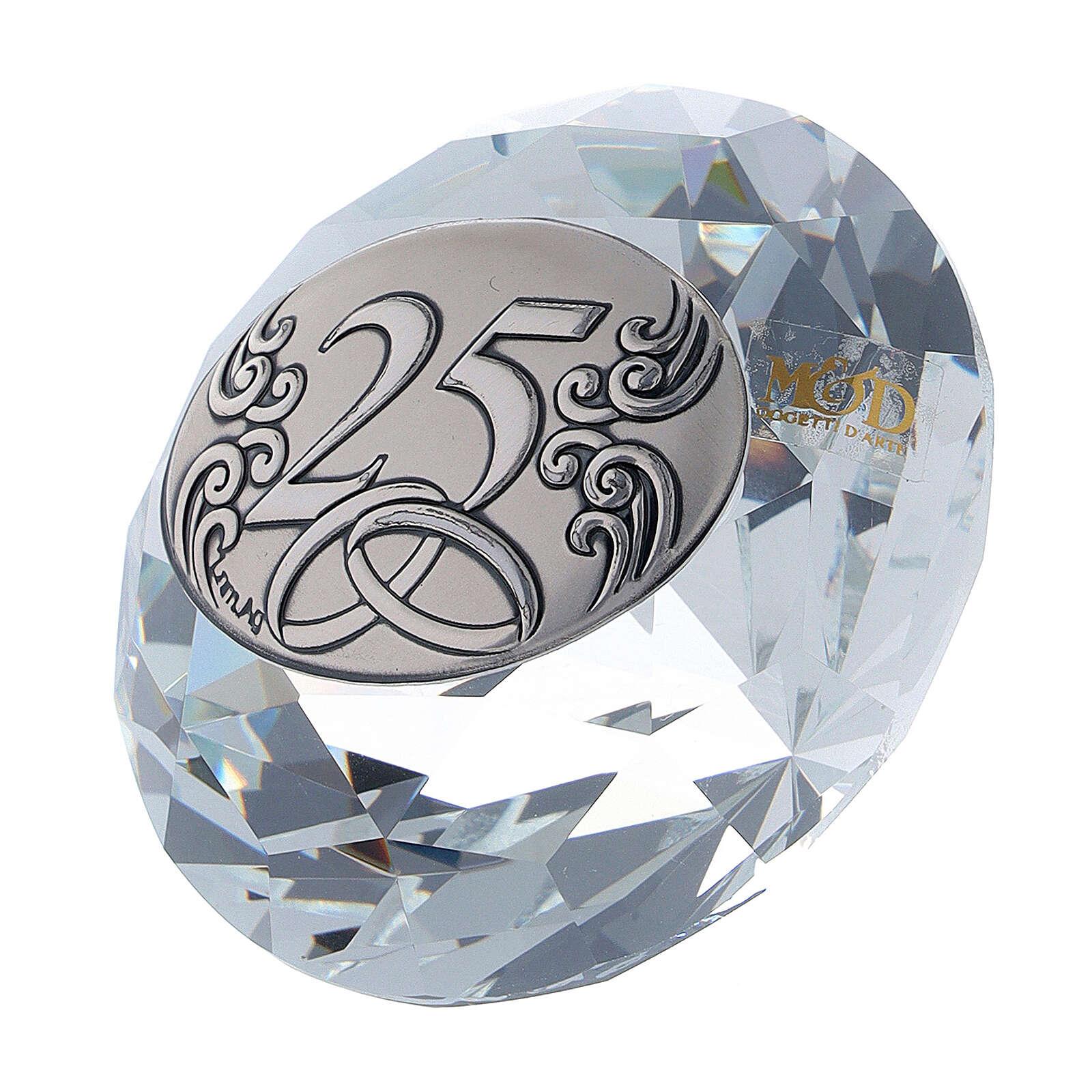Recuerdo diamante bodas de plata 3