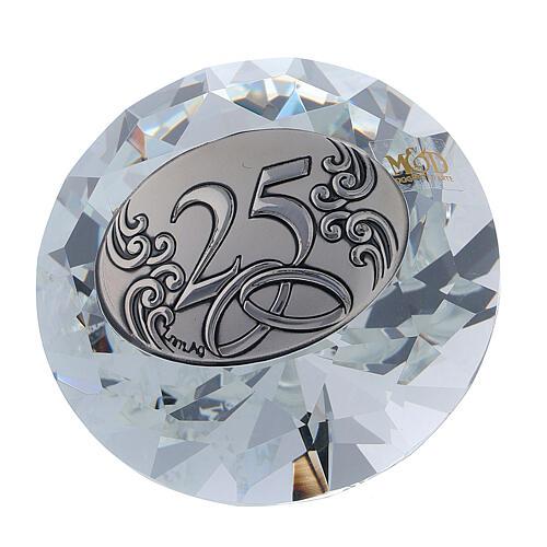 Recuerdo diamante bodas de plata 1