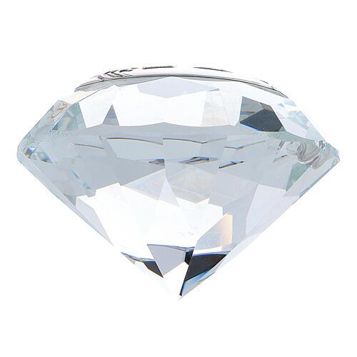 Bomboniera diamante nozze d'argento 3