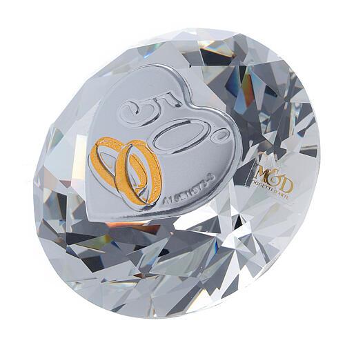 Recuerdo bodas de oro diamante 2