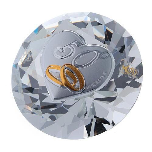 Bomboniera nozze d'oro diamante 1