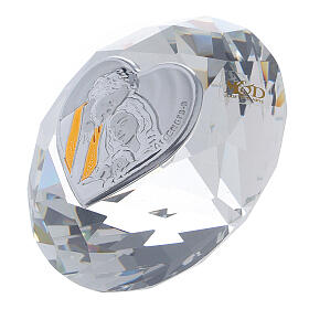 Bomboniera forma diamante Sacra Famiglia s2